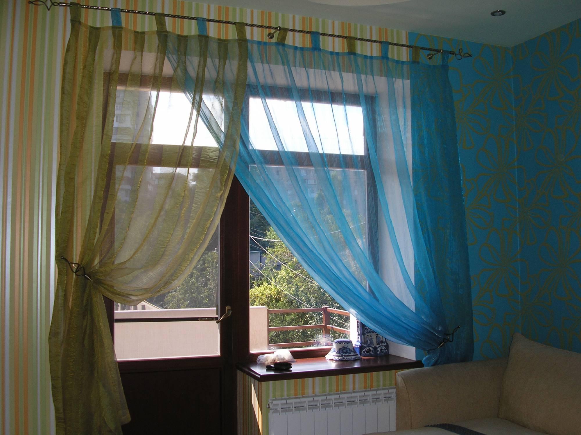 Пошив штор с простыми петлями своими руками